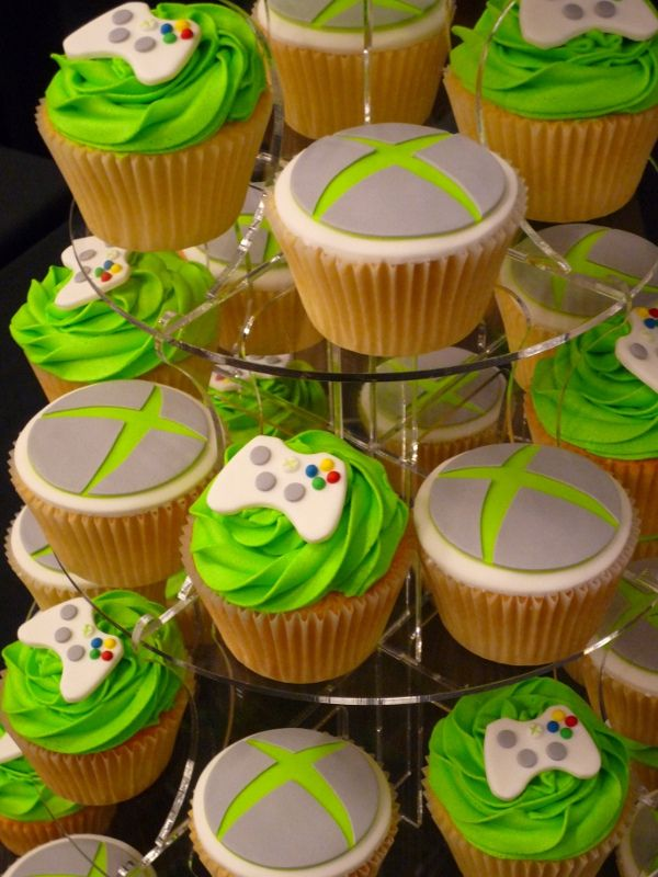 Xbox Cupcakes Xbox Birthdays and Cake