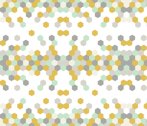 hex_pattern_mustard fabric by fingersandtoes on Spoonflower - custom fabric
