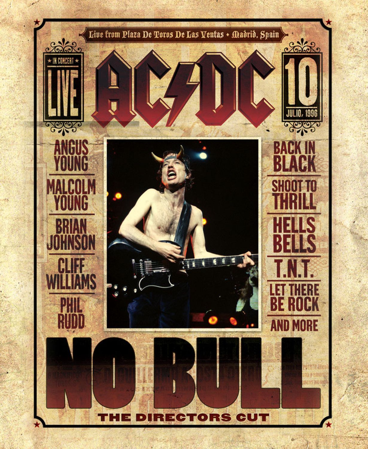 Mini print of ac dc no bull promo