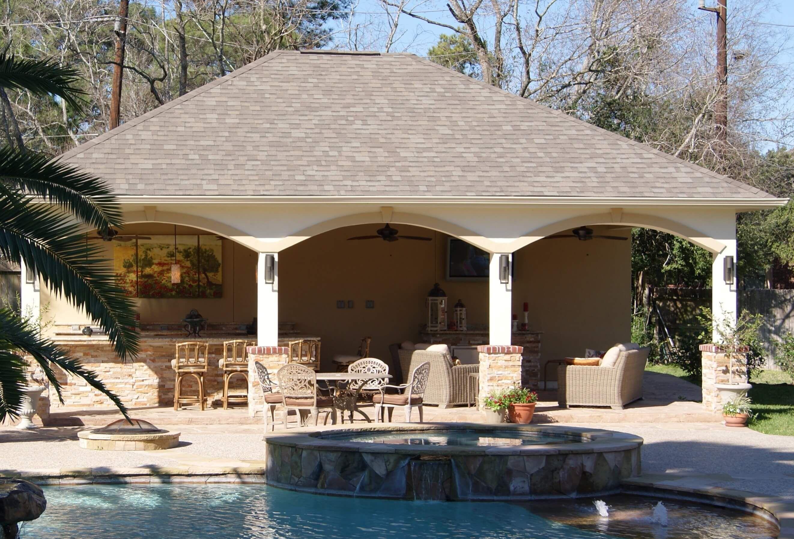 North Houston Pool Cabana Patios Vida Al Aire Libre Piscinas
