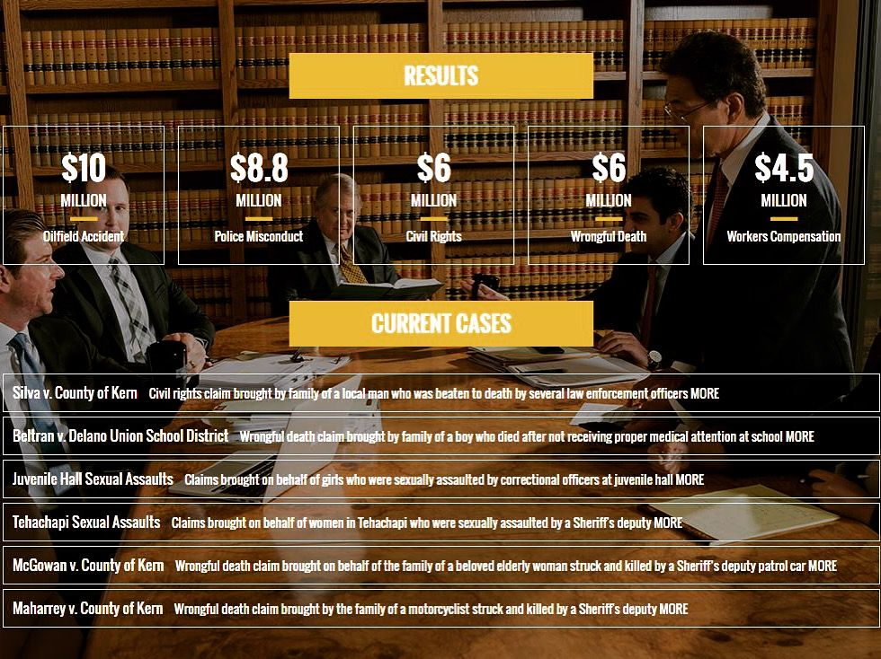 Some major results and current law firm cases are
