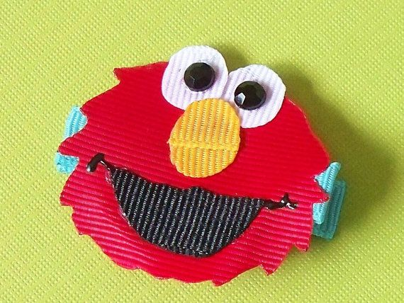 Elmo Hair Clip by christinaland128 on Etsy, $3.00