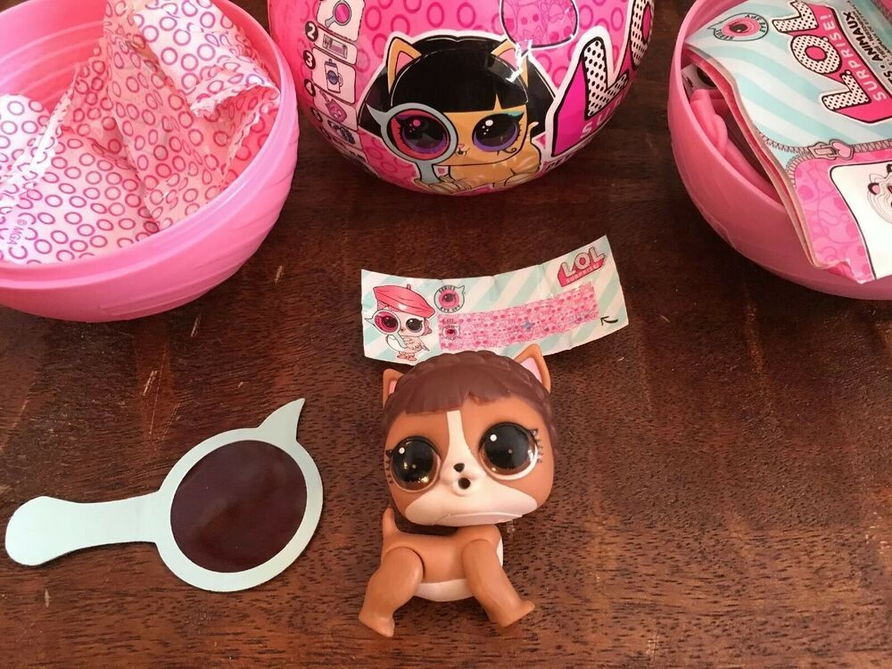 LOL Surprise Pets Animals Series 4 Sleeping Barky Brown Puppy Dog Dolls Toy