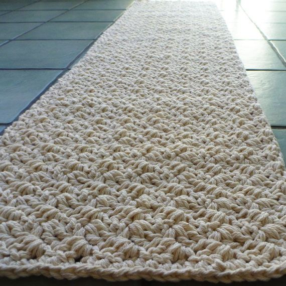 handmade natural cotton rug hallway runner bathmat by sosorosey