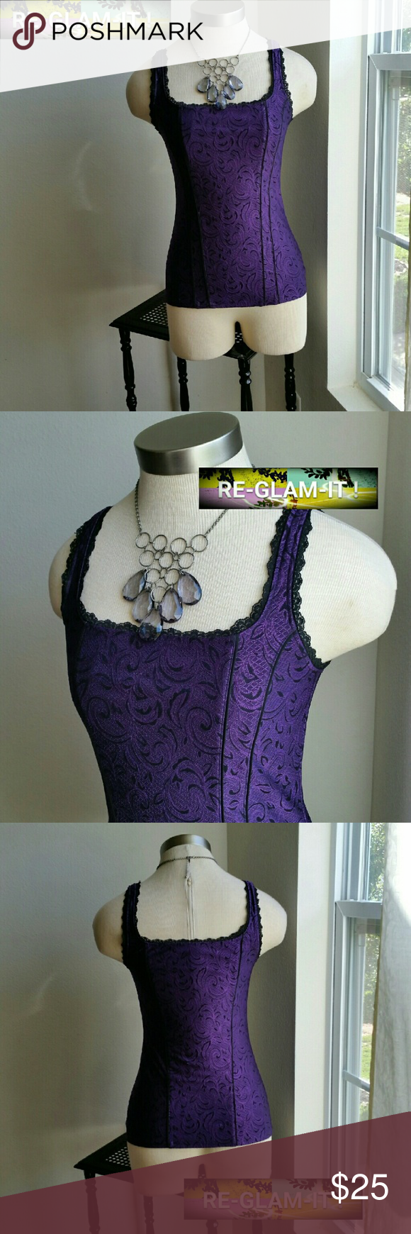 3 DAY SALE....WHBM......GORGEOUS PURPLE TOP.... ....ADDING INFO SOON...EXCELLENT CONDITION ....LIKE NEW...NO FLAWS White House Black Market Tops Blouses