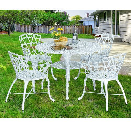 Tufted Chaise Lounge Chair, Sunjoy Arriva 5 Piece Bistro Set Patio Dining Set Outdoor Patio Furniture Sets Patio Decor