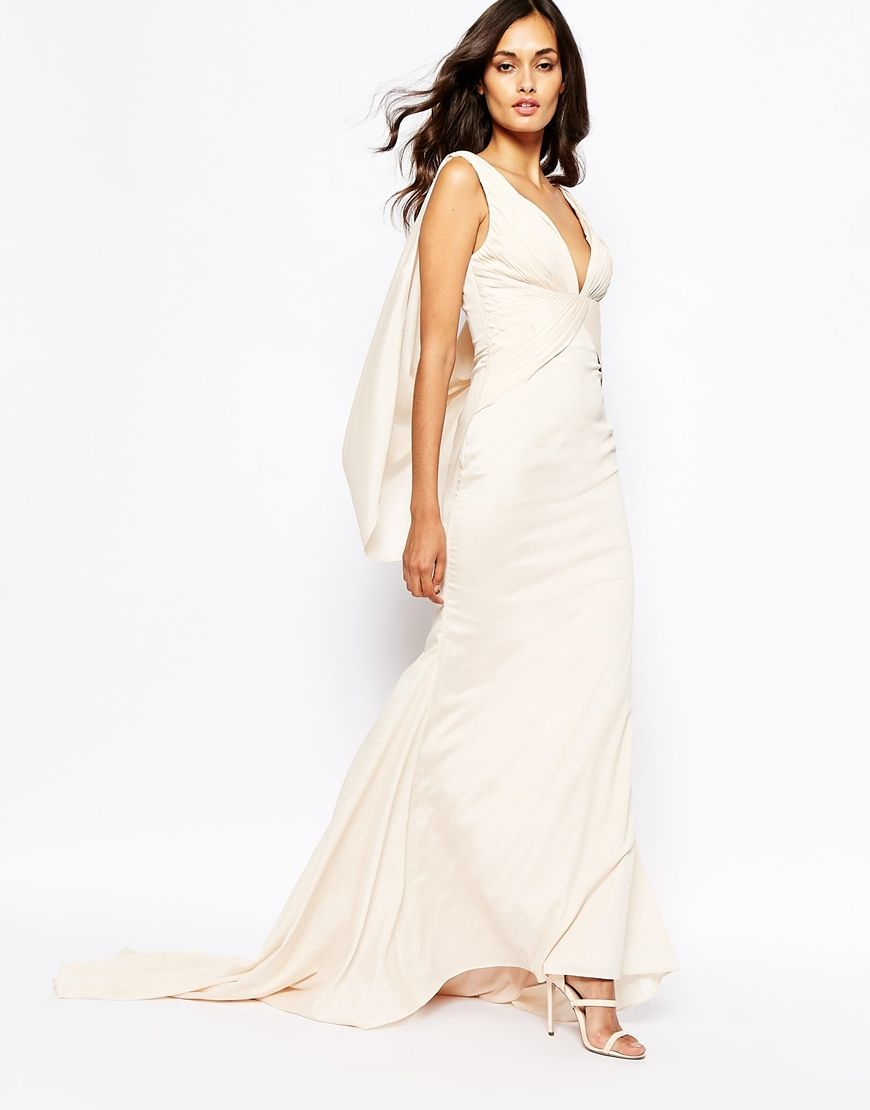 Image 4 of Fame and Partners Eternity Maxi Dress With Low Cowl Back ...