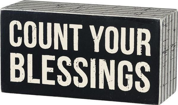 Wall Decor Box Sign Count Your Blessings Inspirational Family Friend #830