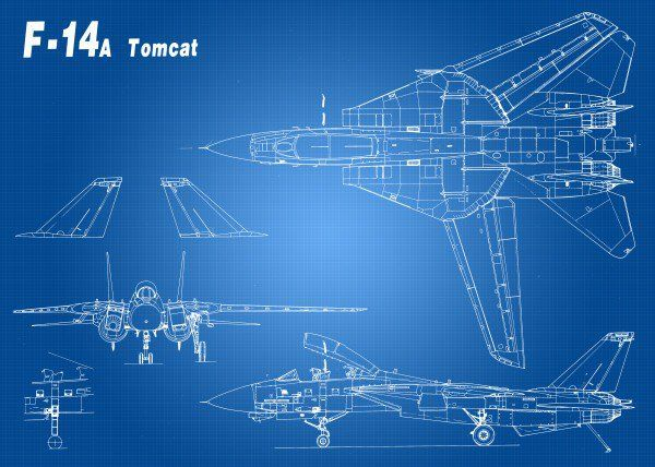 Artistic blueprint of a f 14 tomcat fighter artistic blueprint of artistic blueprint of a f 14 tomcat fighter artistic blueprint of a f malvernweather Image collections