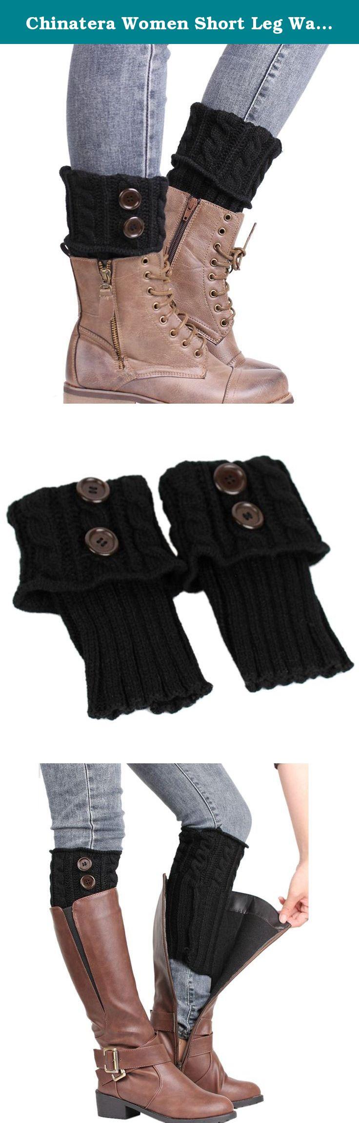 Chinatera Women Short Leg Warmers Winter Warm Button Crochet Knitted Boot Socks. Package content: 1 X Pair of Leg Warmers.