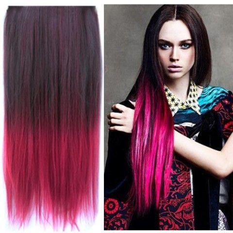 Amazon uniwigs ombre dip dye color clip in hair extension amazon uniwigs ombre dip dye color clip in hair extension 60cm length pmusecretfo Choice Image