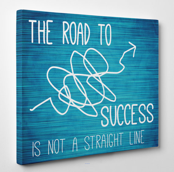 The Road To Success Custom Printed Motivational Quotes Canvas Art Painting