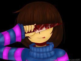 Undertale Frisk and ''Chara'' Genocide +SpeedPaint by TsuukiiChan