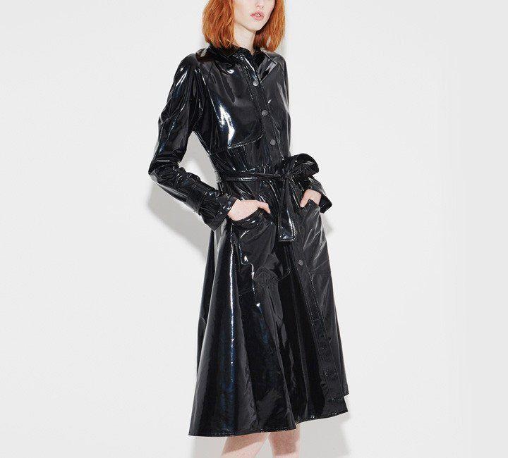 Gray Vinyl Dress