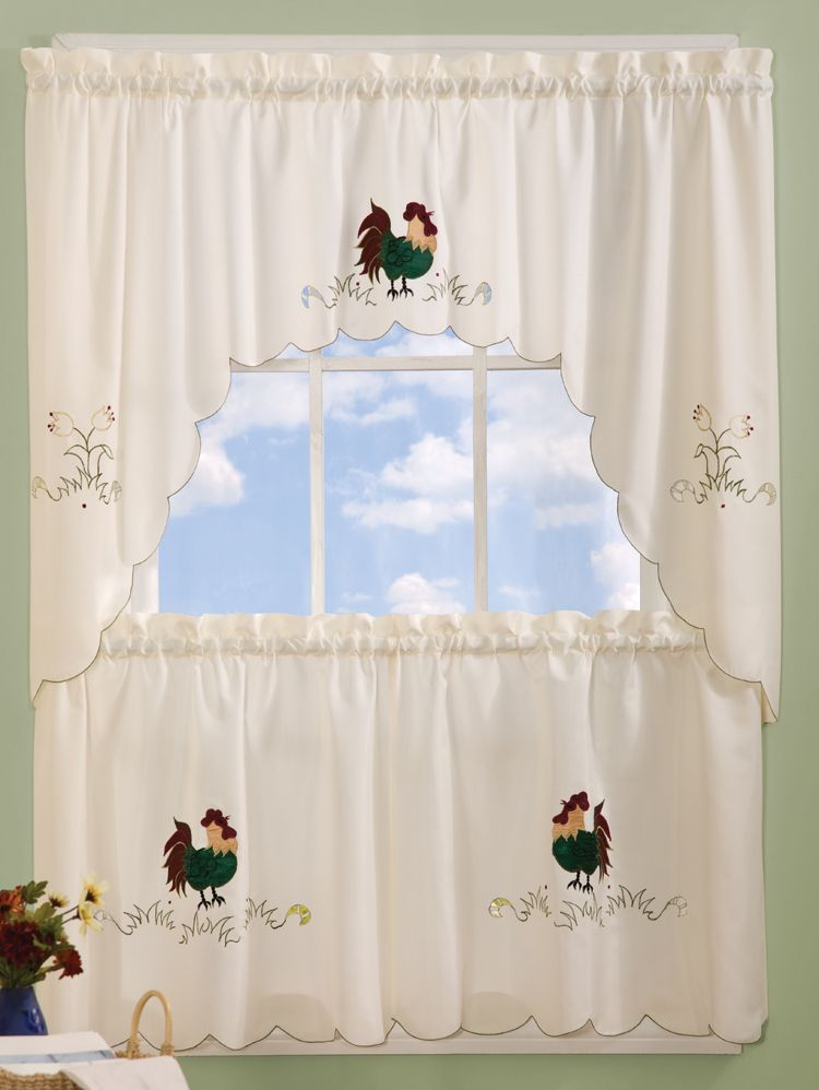 rise & shine curtains feature charmingly colorful embroidered