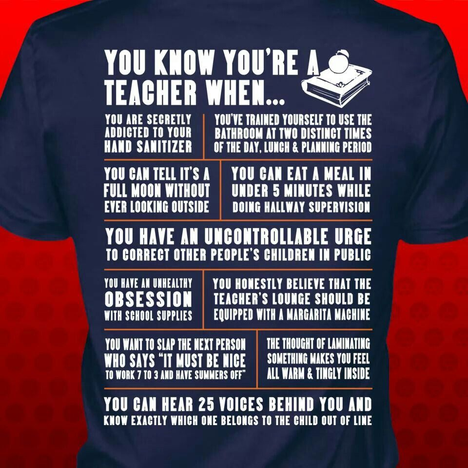 You Know You Re A Teacher When Teacher Shirts Quality Quotes