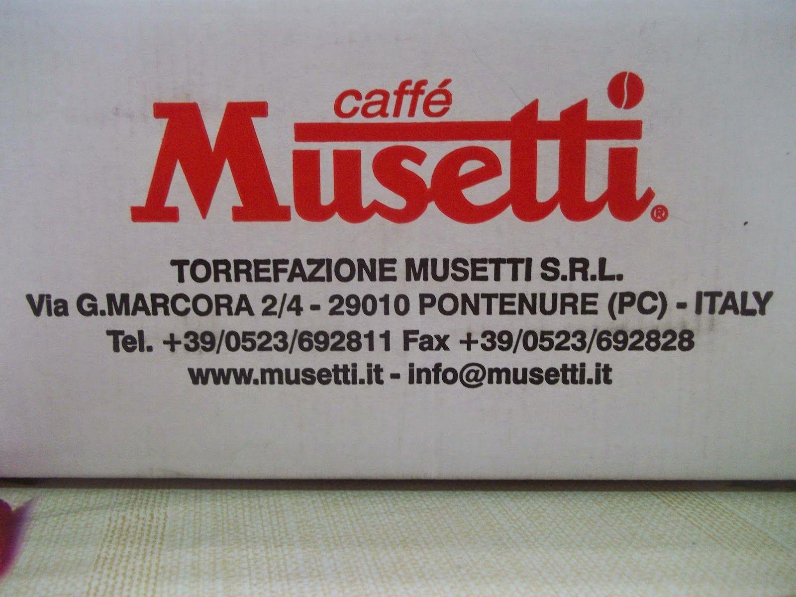 UNA FANTASTICA EMOZIONE......: CAFFE' MUSETTI L'AMORE VERO PER IL BUON CAFFE'