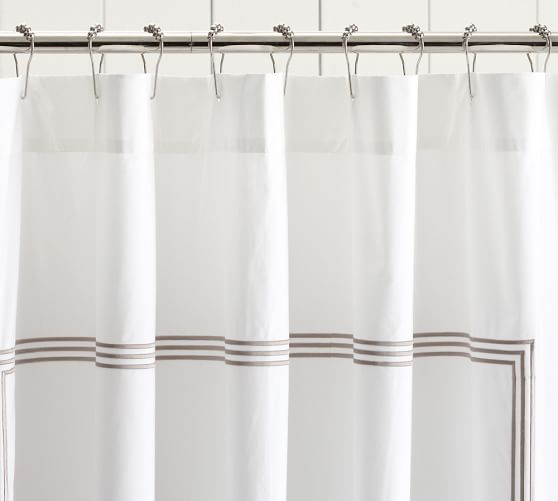 Grand Embroidered Shower Curtain Fabric Shower Curtains