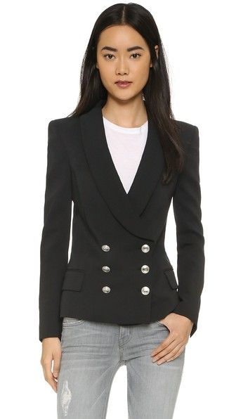 5b17439d Double Breasted Blazer | Covet | Double breasted blazer, Balmain ...