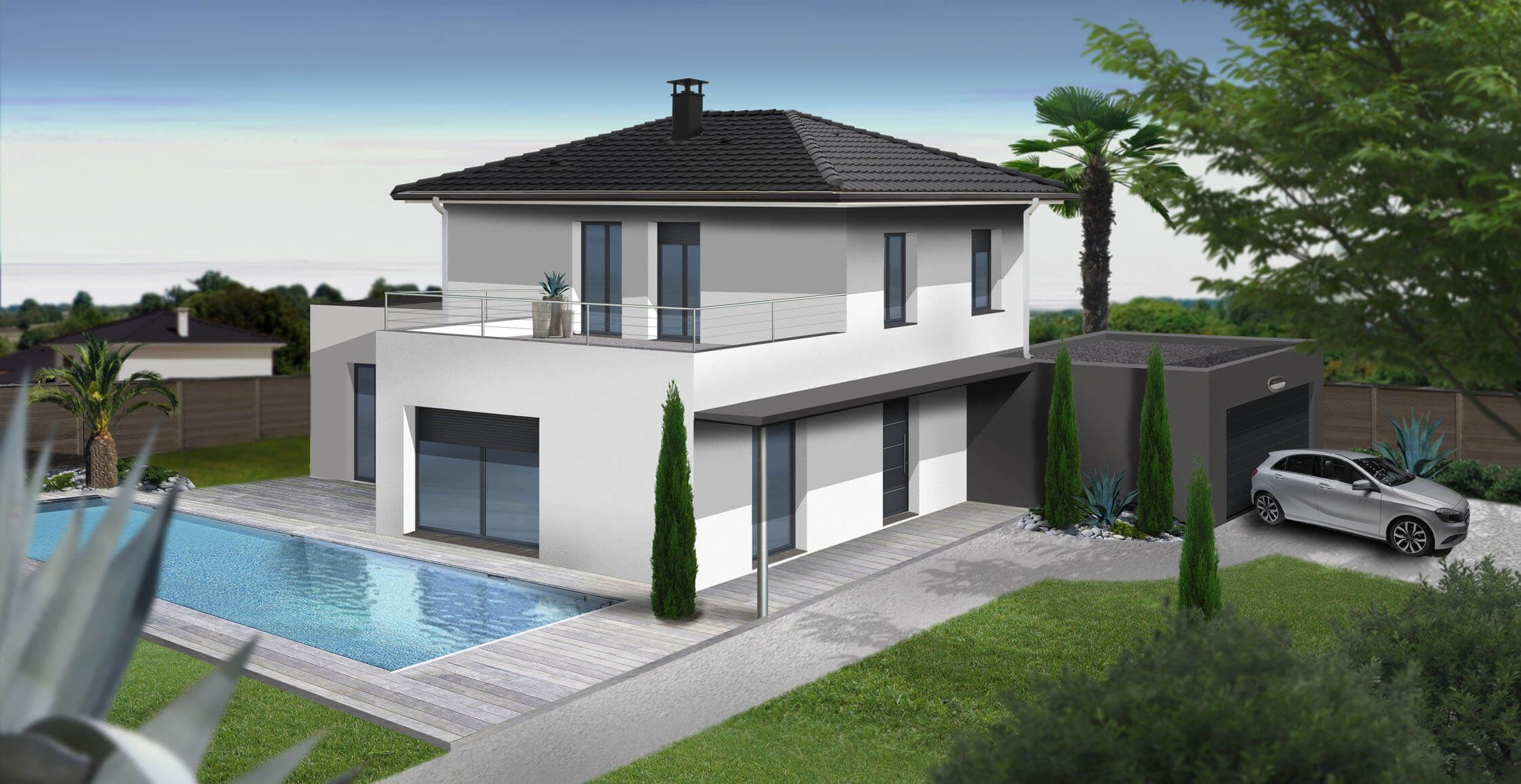 for Maison contemporaine 140m2