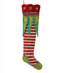 Extra Long Stocking Christmas Pattern Stockings Felt Decorations Father