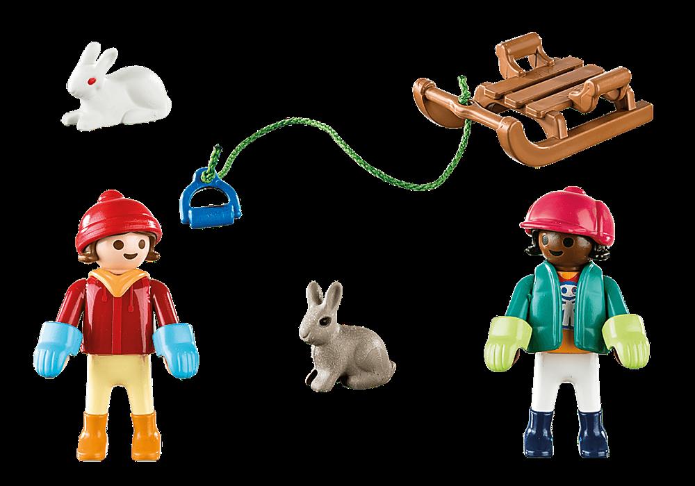 kinder mit schlitten - 70250 - playmobil® deutschland in