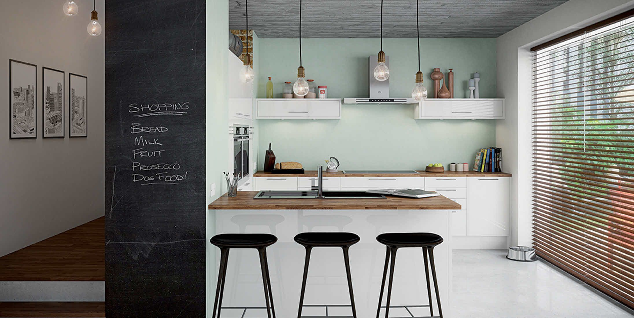White Kitchen Feature Wall kitchen design tips - make a feature wall using a chalkboard