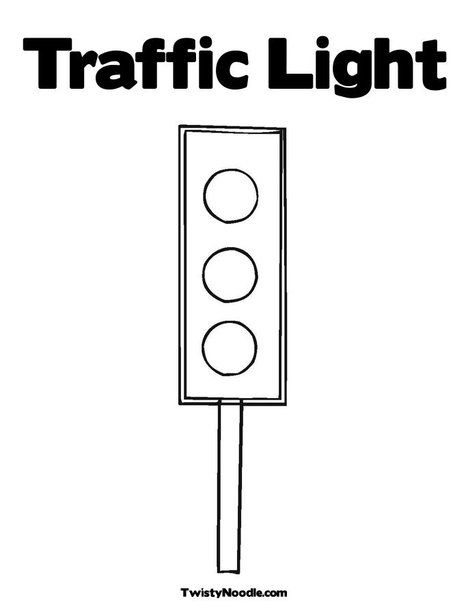 Traffic Light Coloring Page From Twistynoodle Com Coloring Pages