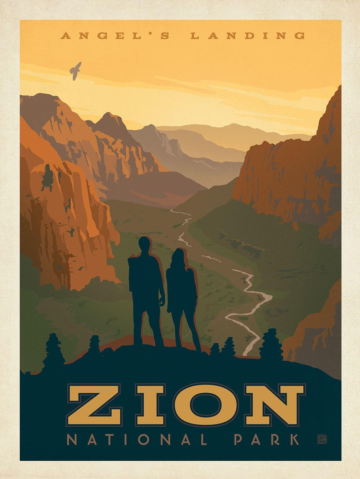 Zion National Park Poster : : Anderson Design Group Studio ...