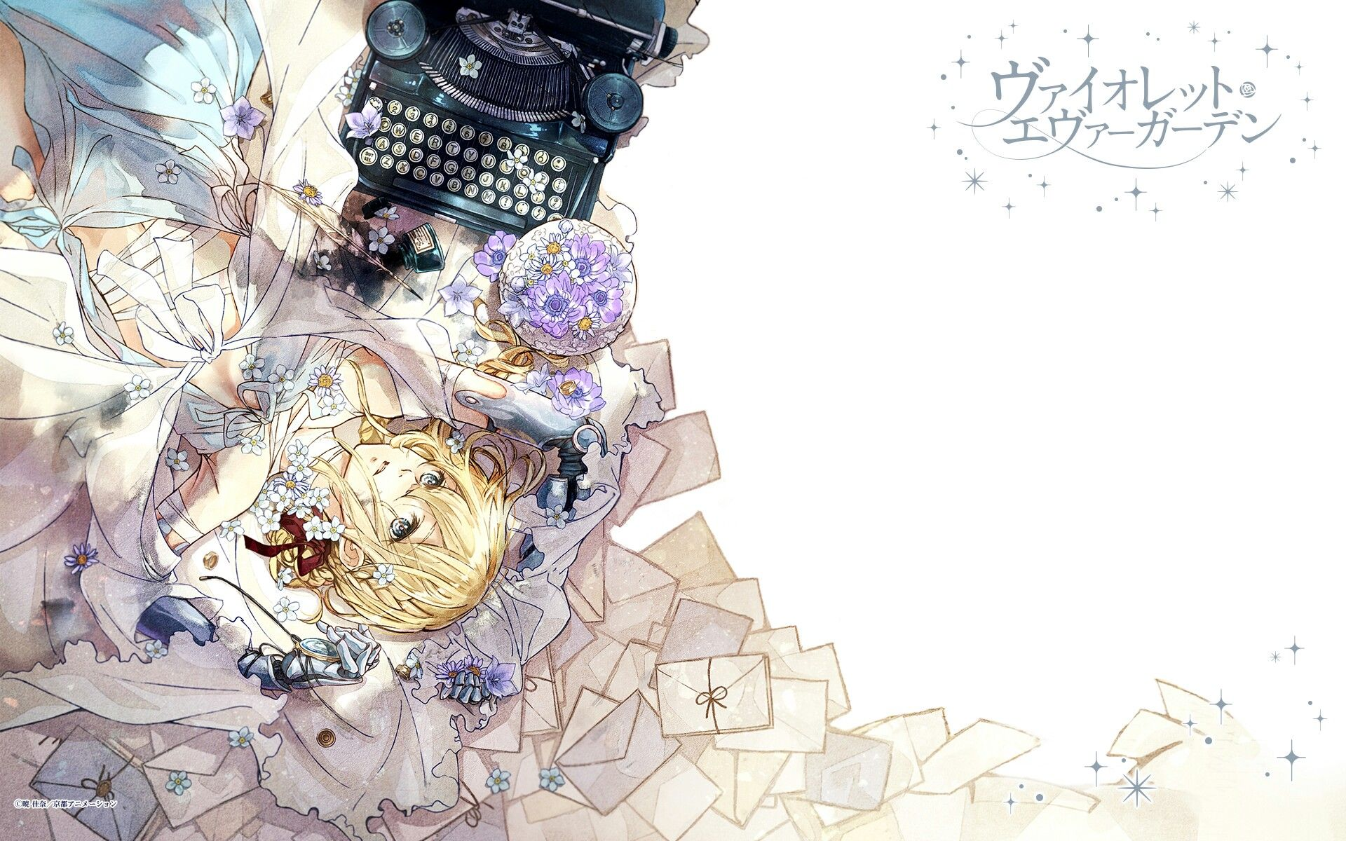 2018 年の violet evergarden light novel volume 2 wallpaper art of