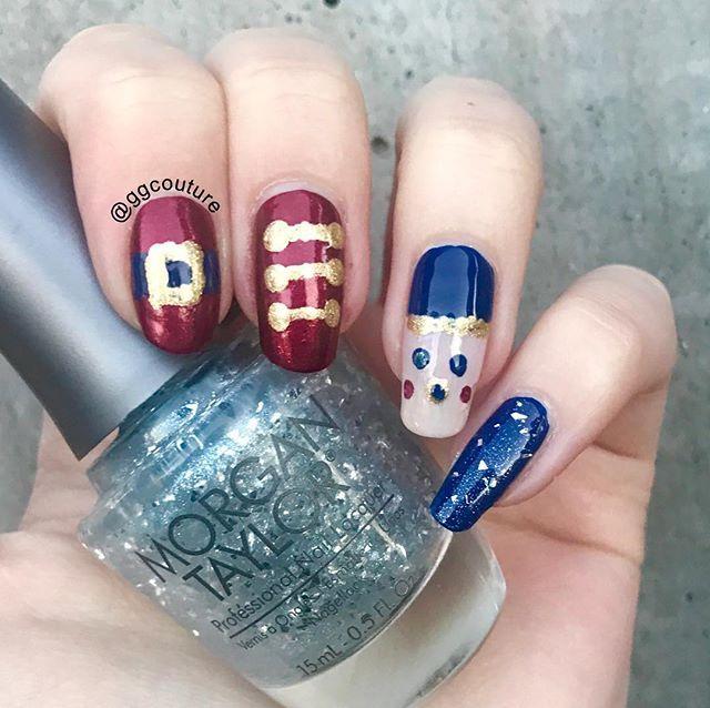 Preen Vip Gabrielle Nutcracker Nail Art Using Some Colors In