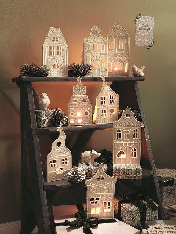 Lichthäuser Von Hutschenreuther Als Ideales Weihnachtsdorf Und  Weihnachtsdeko Bild: Rosenthal