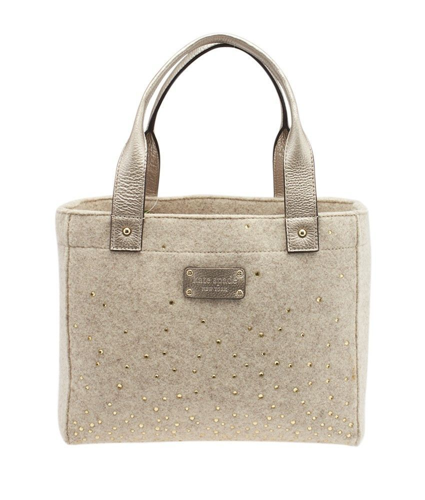 Kate Spade N/A Grey & Silver Wool & Sequin Tote
