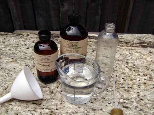 DIY organic Bug and mosquitoe repellant