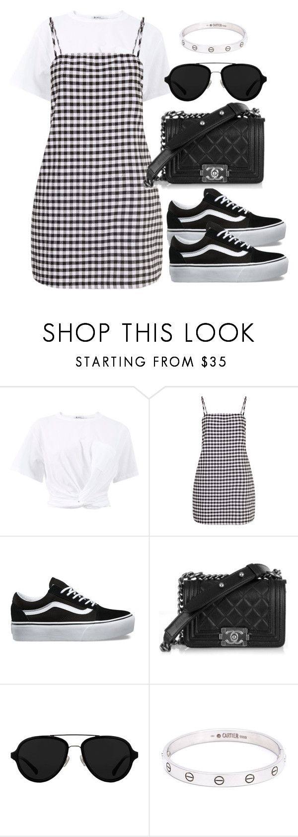 """""""Untitled #3923"""" by theeuropeancloset ❤ liked on Polyvore featuring T By Alexander Wang, Vans, 3.1 Phillip Lim and Cartier"""