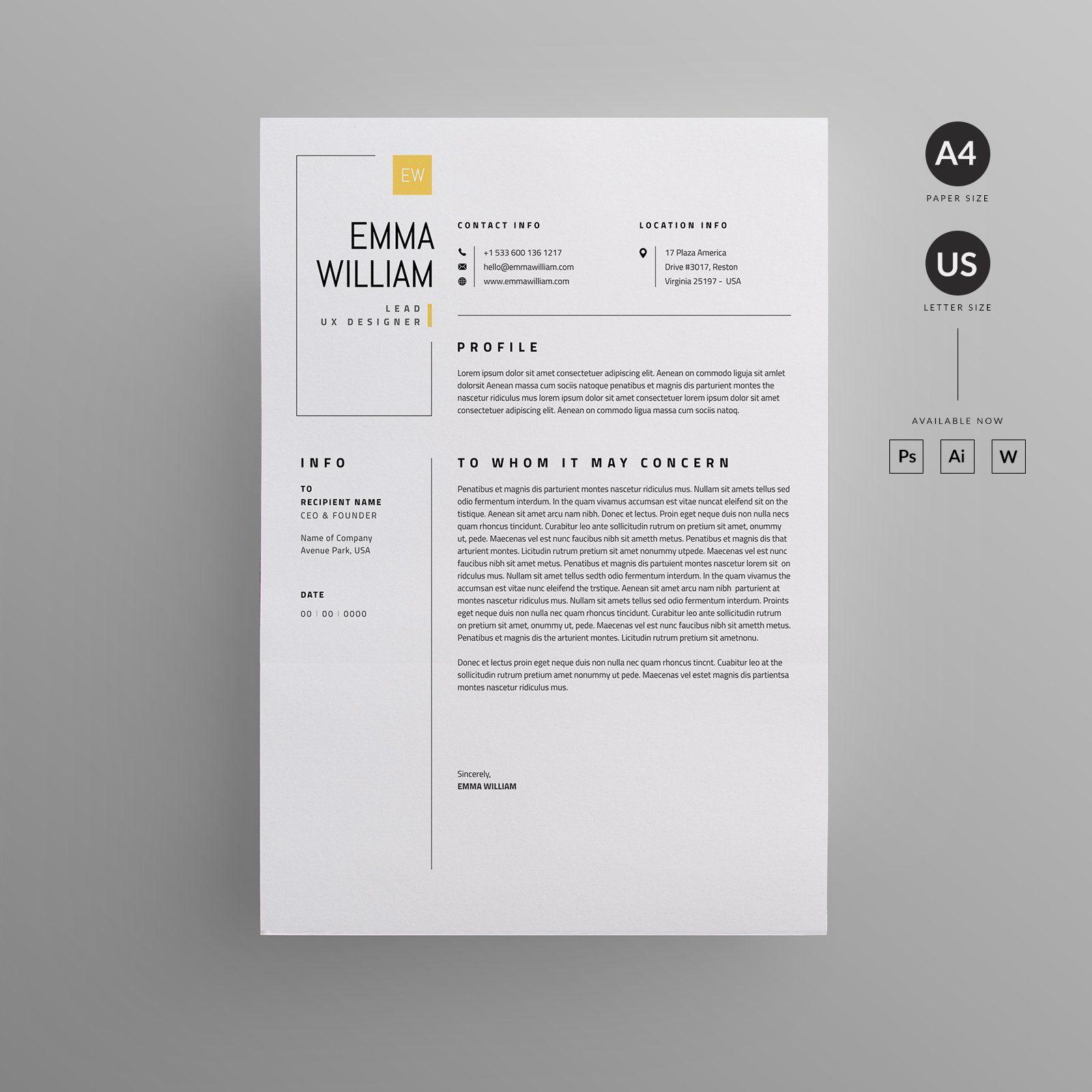 Resume Cv, Letterhead Design, Resume