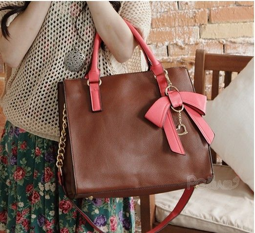 New Style Hit Color Three-dimensional Bow Handbag