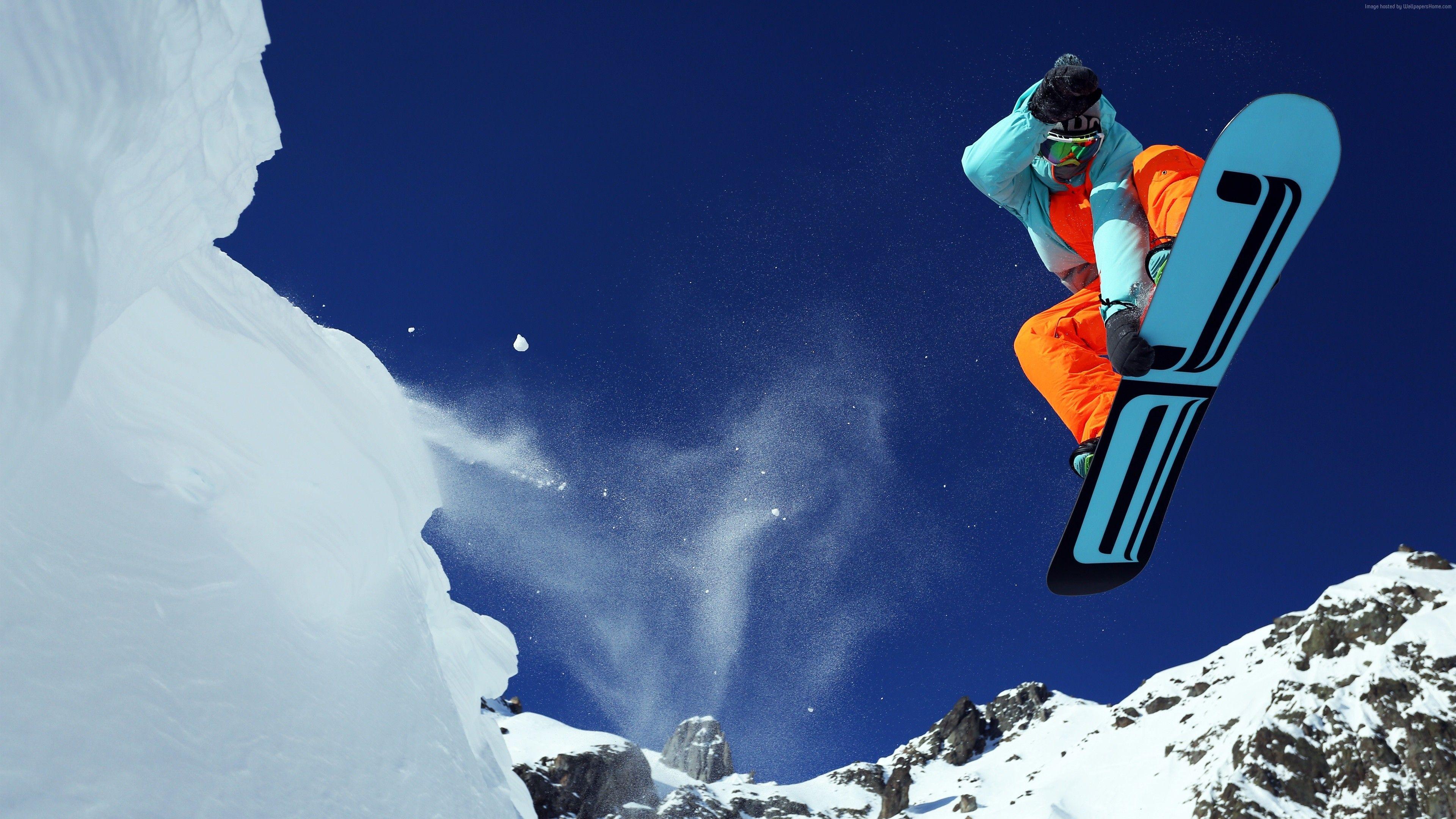 Wallpaper Extreme Snowboarding Winter Jump Snow Sport Fotografie