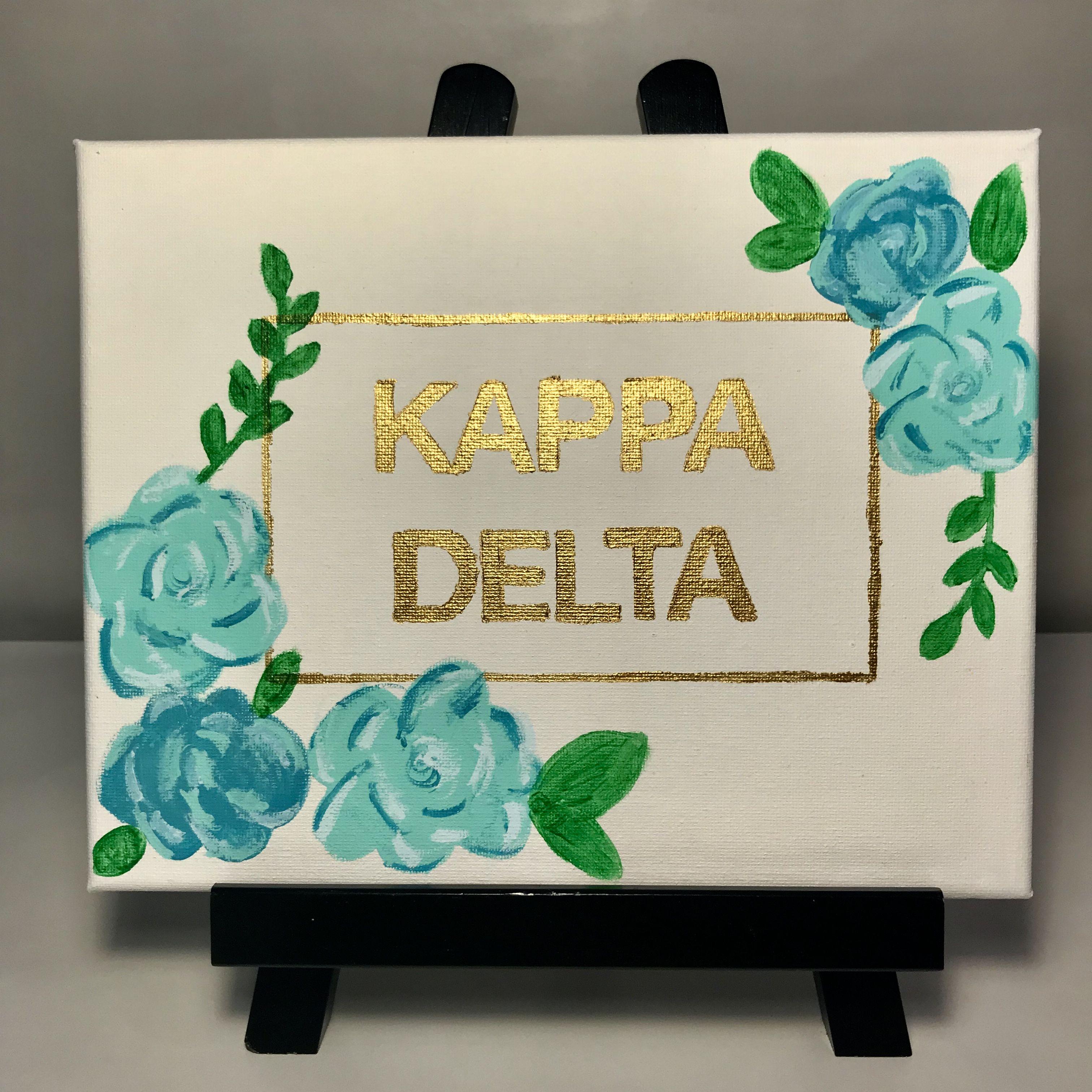 Kappa Delta canvas, sorority letters, big/little