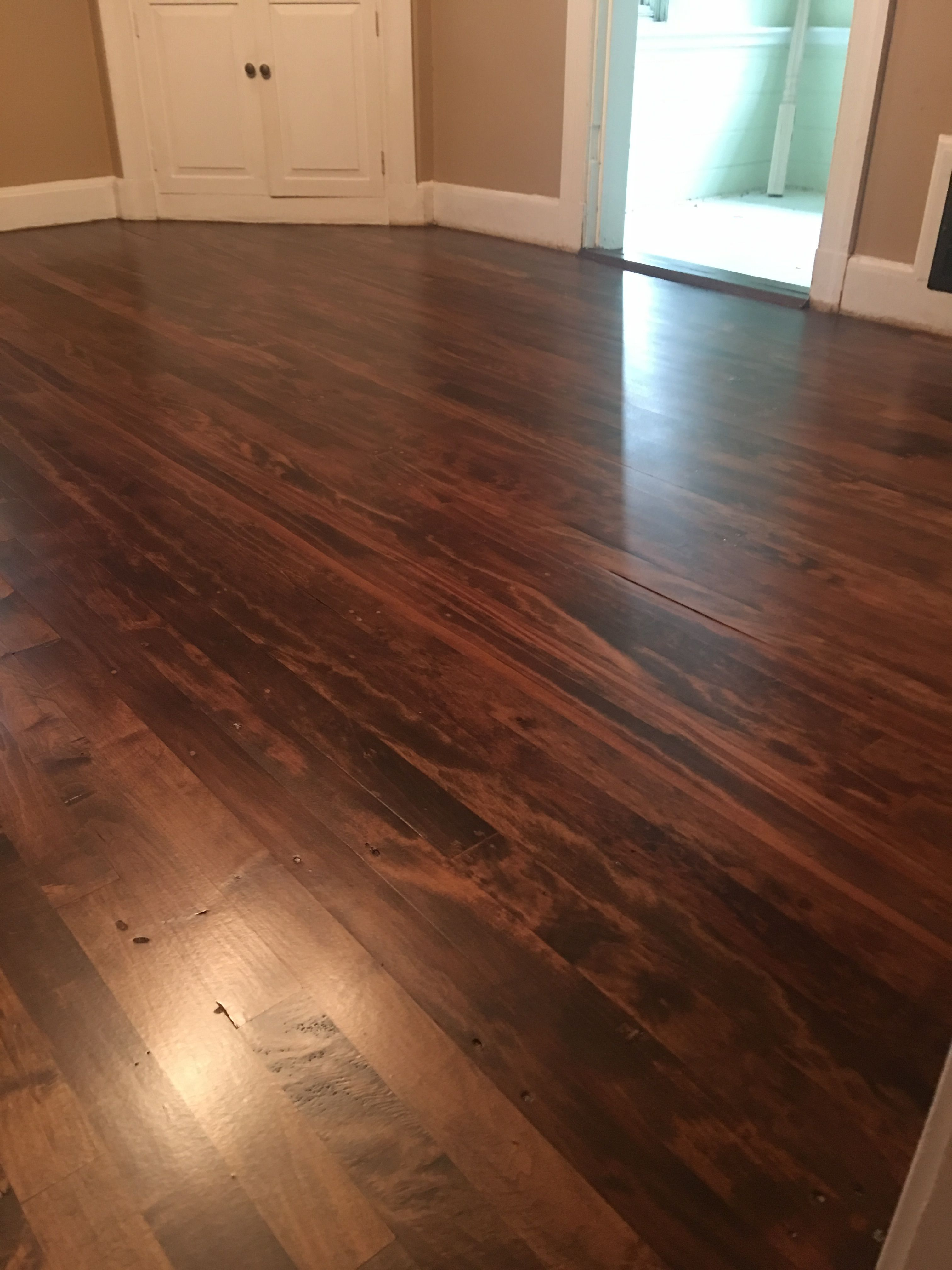 Duraseal Spice Brown And Provincial With Satin Poly Finish Wood Floor Design Hardwood Floors Floor Design