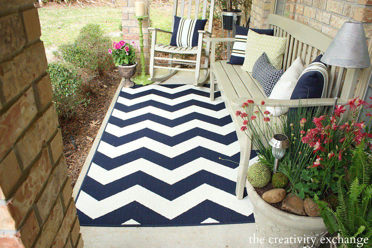 Hello Spring! Front Porch Revamp Patio rugs, Outdoor