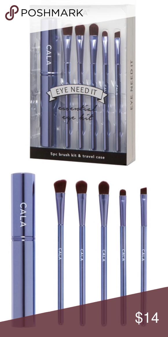 Cala 5piece Travel eye brush set Brand new in box, never