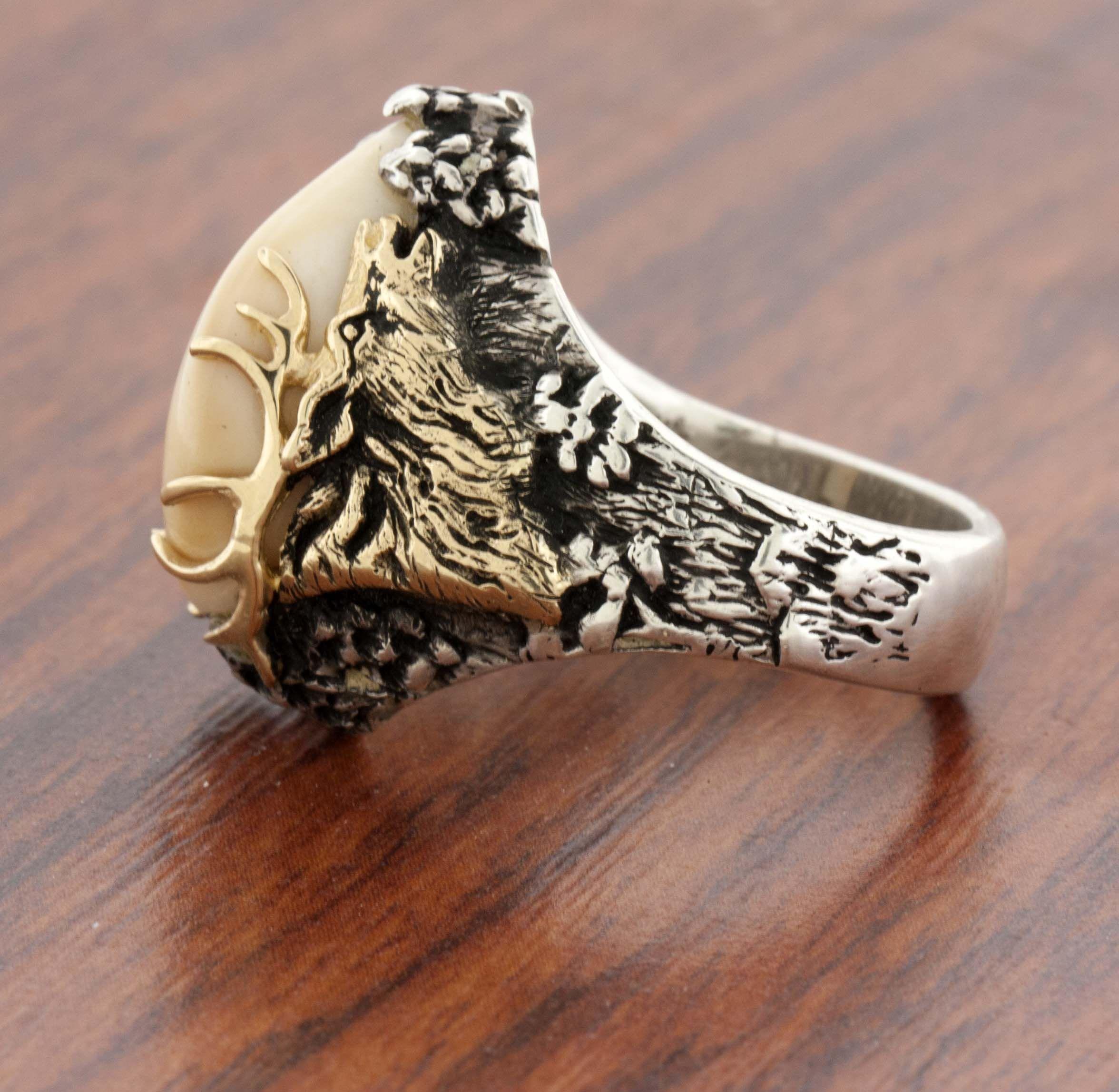 Elk Ivory Tooth Trophy Antler Ring Elk Ivory Elk And Antlers