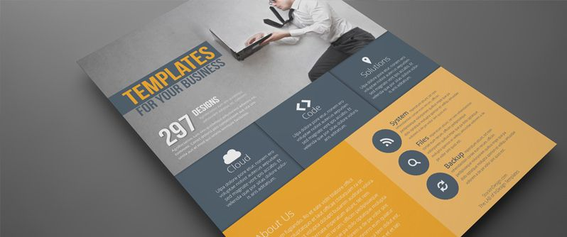 Free high quality flat flyer design template for your print ...