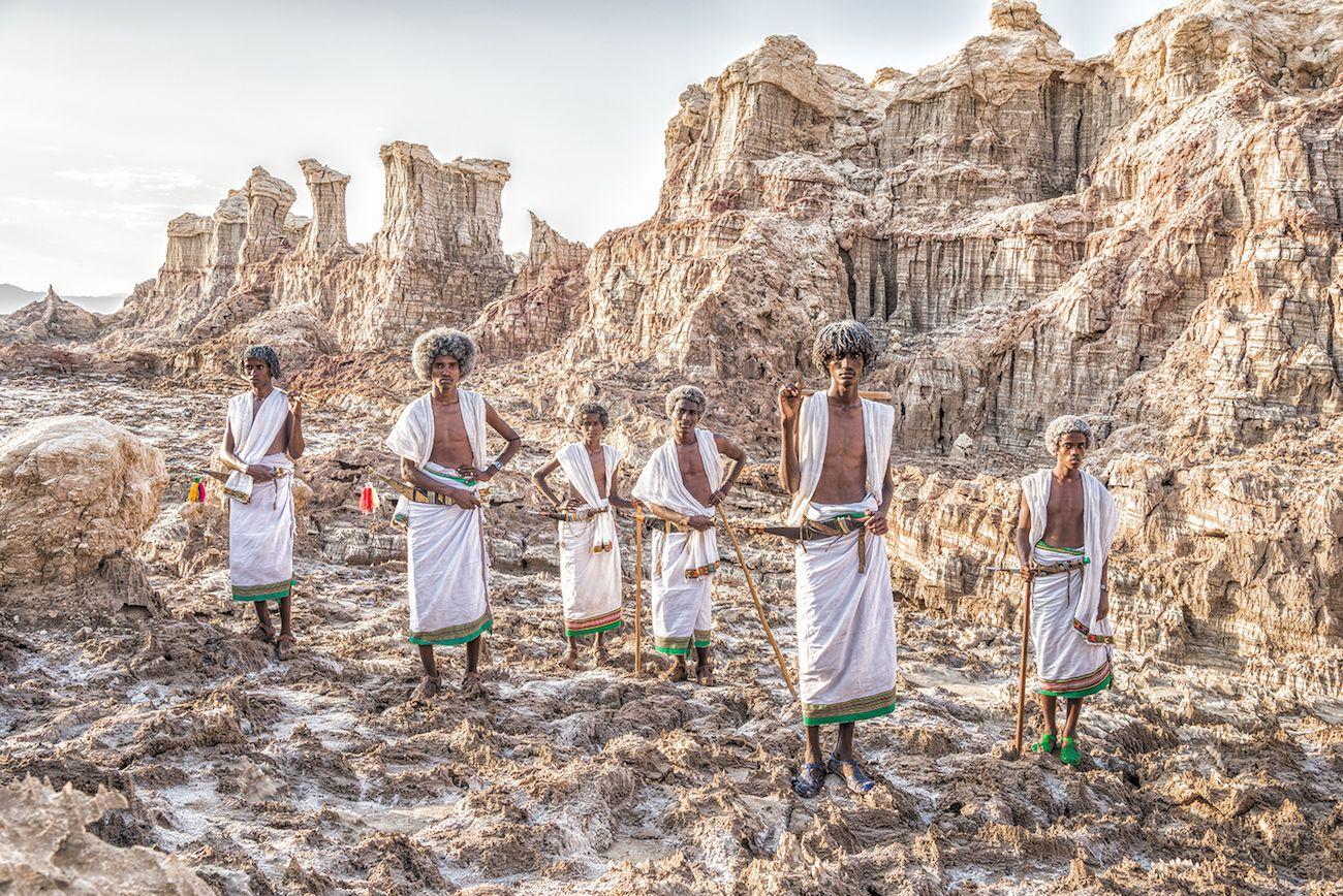 エチオピア・ダナキル砂漠の民族衣装