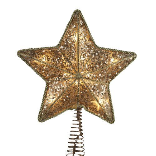 Gold star that shines - this is a large topper that would go great on a big Christmas tree
