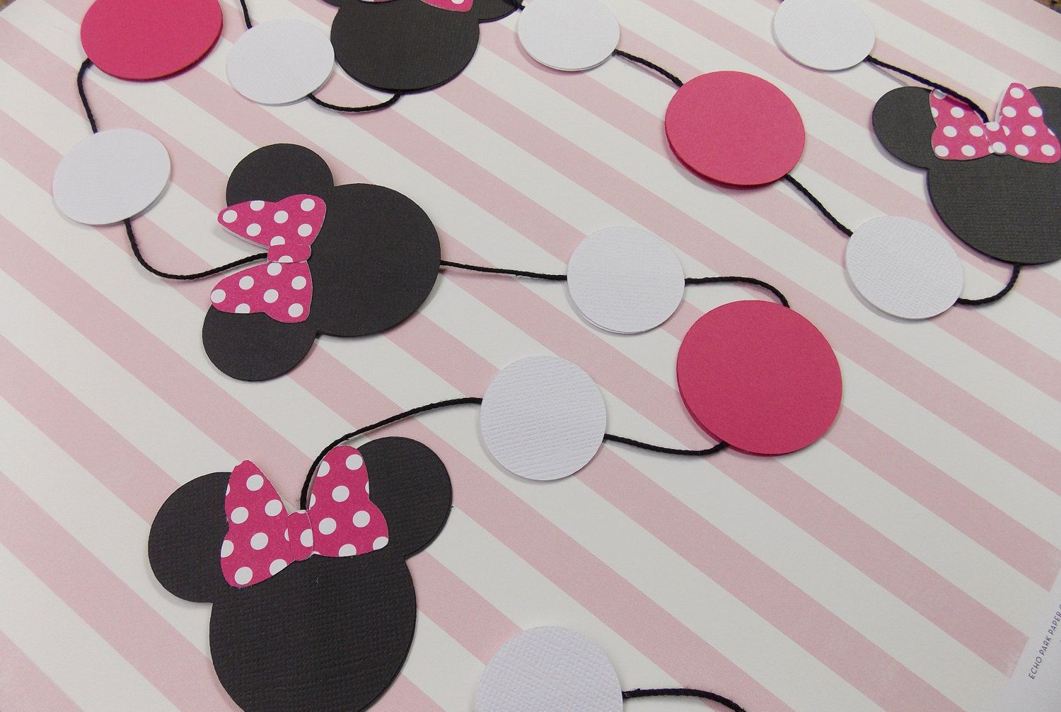 minnie mouse garland party decorations boarders pinterest
