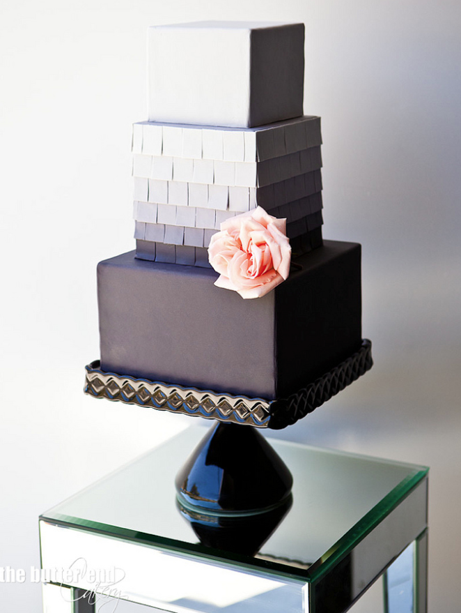 square black and white wedding cakes pictures%0A Black white cakes