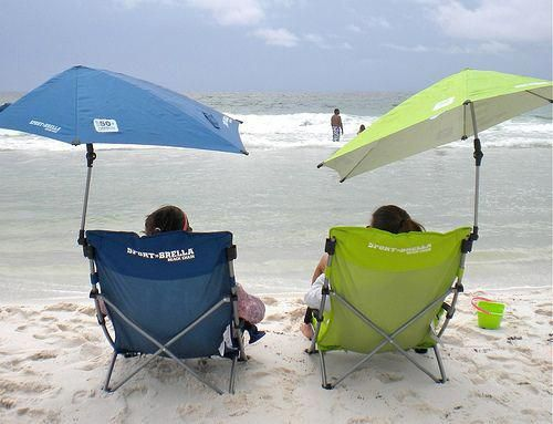 Have Your Own Personal Beach Umbrella That Clips To Chair This One Is Easy Adjust As The Sun Moves Foldingbeachchair