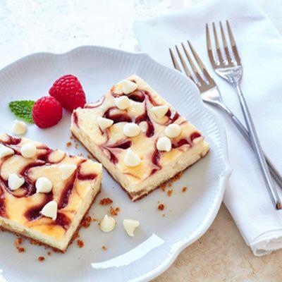 Raspberry Swirl Cheesecake Bars Recipe Raspberry Swirl